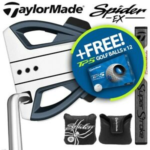 TaylorMade Spider EX Single Bend Putter Navy/Platinum - NEW! 2021 (Inc H/Cover)