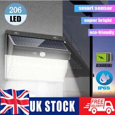 More details for 206 led solar power wall lights motion sensor outdoor garden lamp waterproof