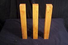 "3 Pc Kiln Dry Black Cherry 1 1/2  x  1 1/2  x  12 "" Lathe Turning Craft Lumber"