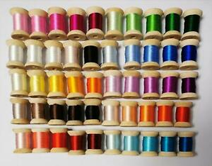 50 spools natural mulberry silk embroidery floss threads DIY craft