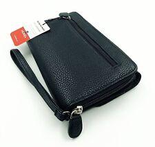 New Mundi My Big Fat Wallet Pebble Black Zip Around Clutch Wristlet Organizer