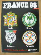 FOOTBALL WORLD CUP 1998 FRANCE 98 EXPRESS 4 - SPAIN NIGERIA BULGARIA PARAGUAY