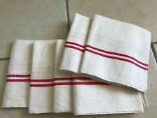 More details for  vintage unused french metis tea towel/torchon. traditional stripe