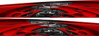 Boat Car Truck Turbo Graphics Vinyl Stickers Decals flag Racing Wrap