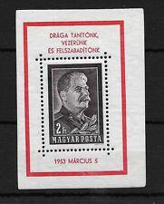 HUNGARY. 1953, Stalin, Mi Block23 PERF, Unmounted Mint.