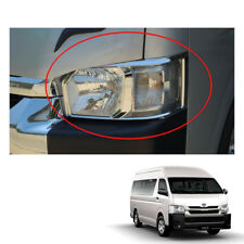 Head Lamp Light Chrome Cover Trim 2 Pc To Toyota Hiace Commuter Van 2014 - 16 17
