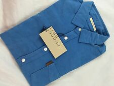BURBERRY BRIT MAGANESE BLUE FIT SMALL SHIRT ( SMALL )
