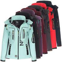 Geographical Norway Tassion Damen Softshell Sport Funktions Regen Outdoor Jacke