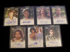 Lost Relics Autographs - Lot of 7 Different Autograph Cards - Rittenhouse 2011