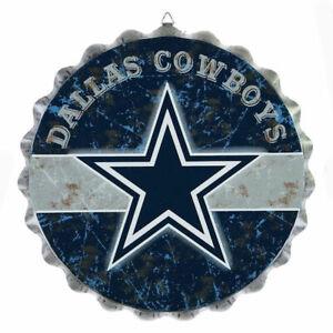 NFL Dallas Cowboys Metal Distressed Bottle Cap Sign