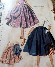 LOVELY VTG 1950s SKIRT & PETTICOAT Sewing Pattern WAIST 25 FF