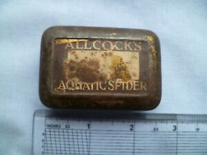 VINTAGE S. ALLCOCK & Co AQUATIC SPIDER FLY LURE TIN BOX ONLY