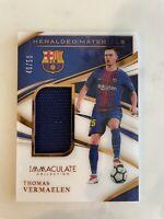 Immaculate Heralded Material 2020 Match Worn Thomas Vermaelen 49/50 Barcelona