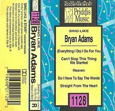 Sing Like Bryan Adams by Karaoke (Cassette, Oct-1998, Priddis) USED VG