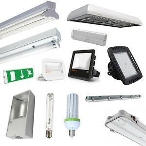 Warehouse LED Lighting T8 Fluorescent Fittings, HighBay, Floodlights, Fittings