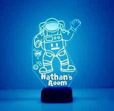 Astronaut LED Light Personalized FREE - Kids LED Astronaut Night Lamp w/ Remote