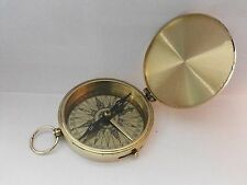 Antique Nautical Vintage Brass Pocket Compass 3 Inches Marine Collectible