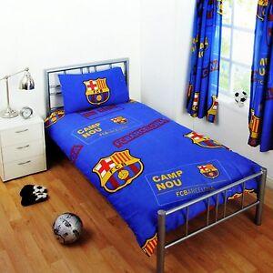 Carbotex FC Barcelona Bettw/äsche Bettbezug Set Fu/ßball 160x200 Blau Rot Gelb /Öko-Tex