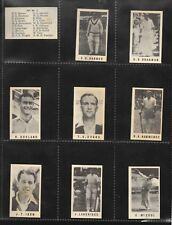 **RARE** 1946 GJ COLES CRICKET CARD SET WITH LISTS Includes 2 Don Bradman Cards