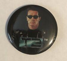 mint Vtg 1991 CAROLCO Terminator 2 Judgment Day PROMO Button Pin T2 RARE Arnold
