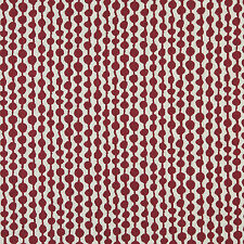24 Yards of K0010A Red Off White Circle Striped Upholstery Fabric, 15% Off