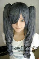 Black Butler Kuroshitsuji Ciel Phantomhive Girl Ver Blue mix Grey Cosplay Wig