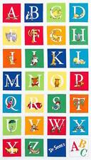 Dr Seuss The Cat in the Hat ABC  Alphabet Blocks Panel Fabric