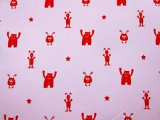 Best Friend Stretch Jersey rosa Farbenmix 50 cm Monster Stoff Kinderstoff nähen