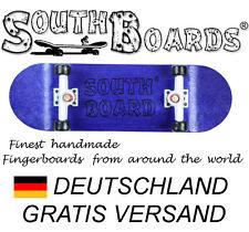 Komplett Holz Fingerskateboard BL/WS/SWZ  SOUTHBOARDS® Handmade Wood Fingerboard