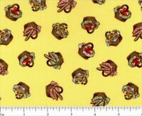 Windham Little Red Riding Hood Whistler Studios 100% Cotton Yellow Quilt Fabric