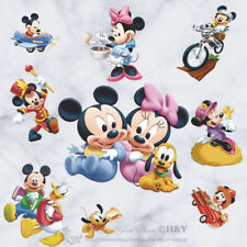 30 Pcs Disney Mickey Minnie Mouse Donald Duck Cartoon Wall Stickers Kids Decor