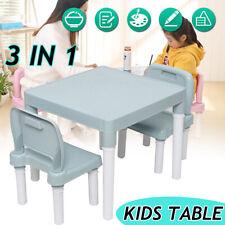 3-Piece Children Kids Table & 2 Chair Set Boys Girls Toddler Study/Play Desk