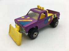 1979 Hot Wheels Snow Removal Plow Truck Mattel Inc. Malaysia Purple