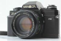 MINOLTA X-600 BLACK w/ MC ROKKOR-PF 50mm F/1.7 LENS KIT SLR 35mm FILM CAMERA