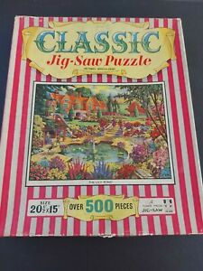 """Vintage Tower Press jigsaw """" The Lily Pond""""  Over 500 pieces"""