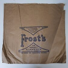 "12"" 78rpm paper gramophone record sleeve FROST`S the market , llanelly"