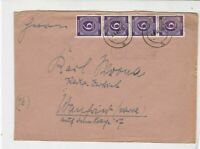 germany 1947 allied occupation stamps cover ref 18672