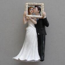 Tortenfigur Hochzeitstorte Tortendeko Tortenaufsatz Brautpaar mit Rahmen 13cm