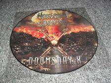 Creación. malévolo-Doomsday X-Raro Lp de imagen de brutal death metal obituario