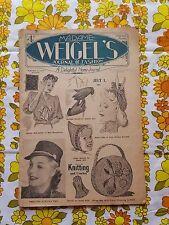 MADAME WEIGEL'S JOURNAL OF FASHION July 1, 1944 vintage pattern magazine
