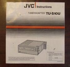 JVC Instructions Tuner/Adapter TU-S10U Manual
