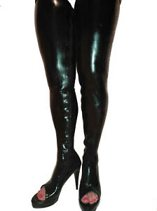 LATEX RUBBER HIGHS BOOTS SIZE 6-16 HEELS-5,5 ca- 13cm PRODUCER- POLAND-NEW