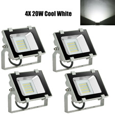 4x 20W Led Outdoor Flood Lights Daylight Lamp 110V Waterproof Ip65 Security