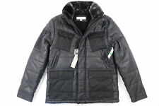 CALVIN KLEIN CK BLACK LARGE COATED TANK QUILTED JACKET MENS NWT NEW
