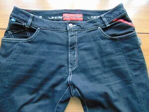 """Lindstrands Black Motorcycle Jeans. Size M. 36"""""""