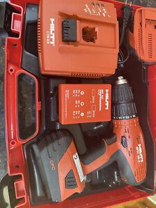 Hilti Model SFH 18-A 18V Hammer Drill w/ (2) Batteries, Charger, Bit Kit