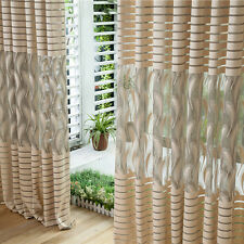 Striped Feathers Door Window Curtain Drape Panel Sheer Scarf Valances For Room