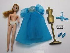 Topper Dawn Doll Vintage 1970 Modeling Agency Daphne Blue Outfit, Mannequin