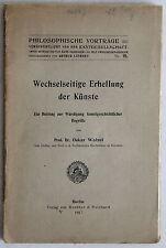 Walzel: Wechselseitige Erhellung der Künste 1917 -Kunstgeschichte Philosophie xz