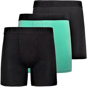 LEVI'S MEN'S PACK 3 - GREEN BLUE - LARGE - UNDERWEAR X3 BOXER BRIEFS MICROFIBER